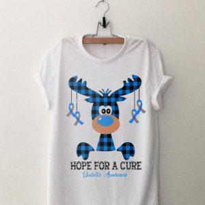 Hope For A Cure Diabetes Awareness Reindeer shirt