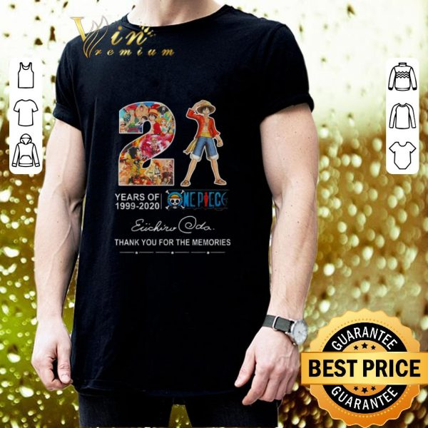 Hot 21 Years Of One Piece 1999-2020 Thank You For The Memories shirt