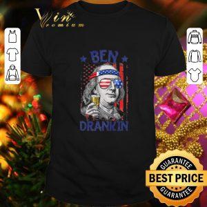 Hot American Flag Beer Ben Drankin shirt