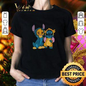 Hot Baby Simba and Stitch shirt