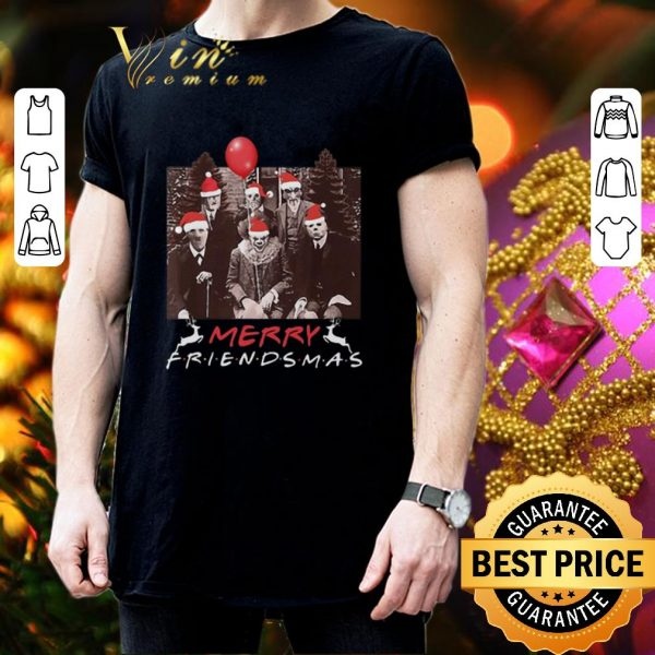 Hot Horror Movie Characters Merry Friendsmas Christmas shirt