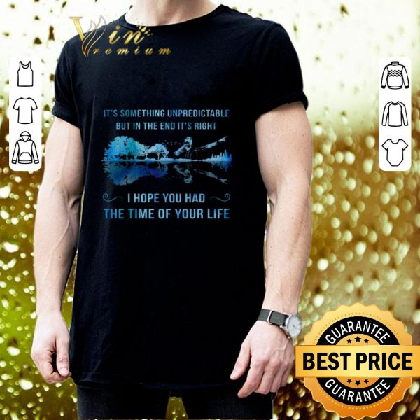 Hot It's something unpredictable Good Riddance Time Of Your Life shirt