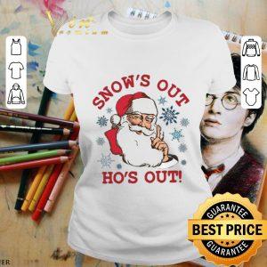 Hot Santa snow's out ho's out shirt