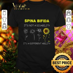 Hot Sunflower Spina bifida it's not a disability it's a different ability shirt