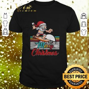 Hot Surfing Santa Claus Hawaiian Merry Christmas shirt
