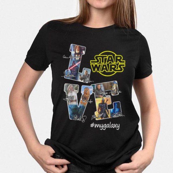 Love Star Wars my Galaxy signatures shirt