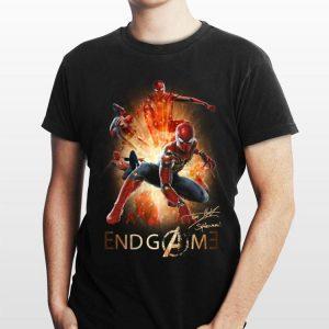 Marvel Avengers Endgame Spider man Peter Parker Signature shirt