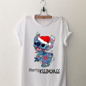 Merry Kissmyass Santa Stitch Light Christmas shirt