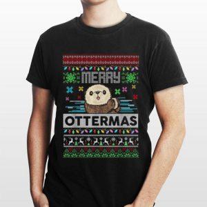 Merry ottermas ugly Christmas shirt