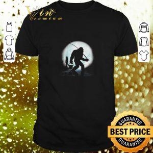 Original Bigfoot go fishing and moon shirt