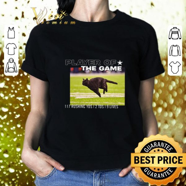 Original Cat player of the game 117 rushing yds 2 tds 9 lives shirt 2