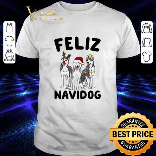 Original Feliz Navidog Husky Christmas shirt
