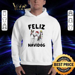 Original Feliz Navidog Husky Christmas shirt 2