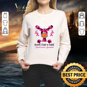 Original Reindeer Hope for a cure Breast cancer Awareness shirt