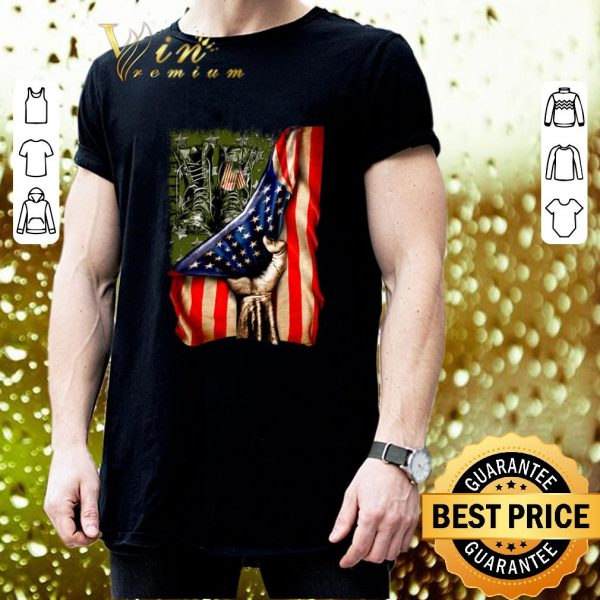 Original Veteran your name American flag shirt