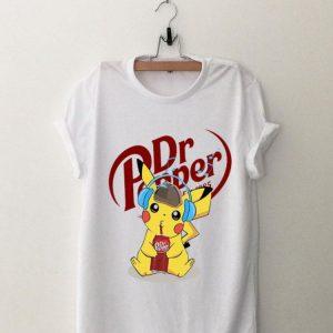 Pikachu Listen To Music And Drink Dr Pepper shirt