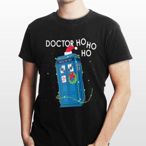 Police Box Doctor Who Ho Ho Ho Christmas shirt