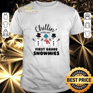 Pretty Snowman Chillin' with my first grade Snowmies shirt