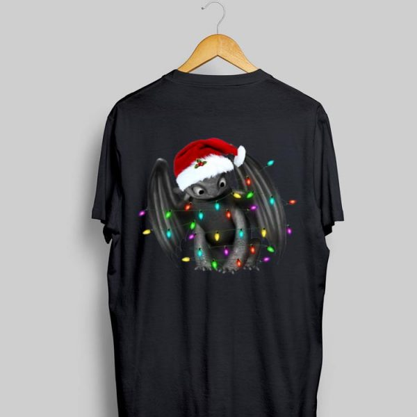 Santa Christmas Light Toothless Dragon shirt