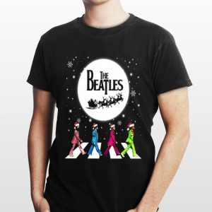 Santa The Beatles Walking Across Abbey Road Christmas shirt