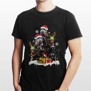 Star Wars Boba Fett Darth Vader Stormtrooper Boba Christmas Tree shirt