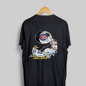 Star Wars Christmas Darth Vader Santa's Sleigh Chicago Cubs shirt