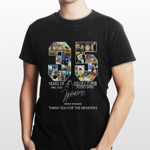 Studio Ghibli 35 Years 1985-2020 Thank You For The Memories Signature shirt