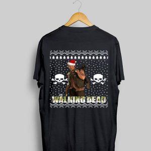 The Walking Dead Daryl Dixon Santa hat ugly Christmas sweater