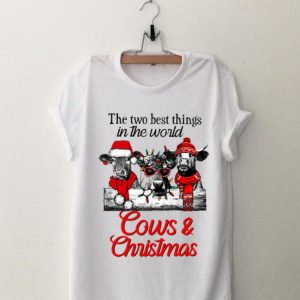 The two best thing in the world Cows and Christmas shirt
