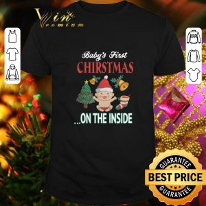Top Baby's first Christmas on the inside shirt