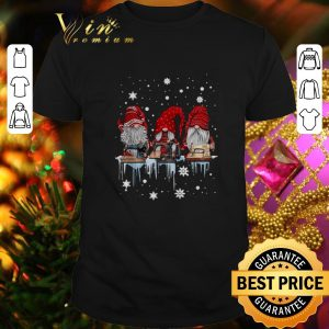 Top Gnome sewing machine Christmas shirt