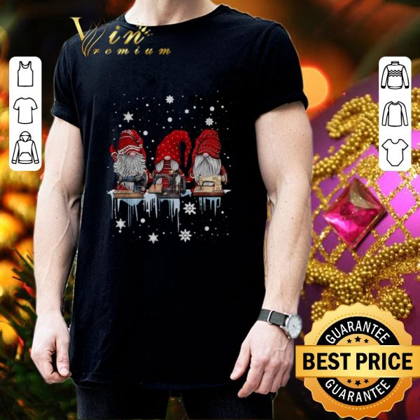 Top Gnome sewing machine Christmas shirt