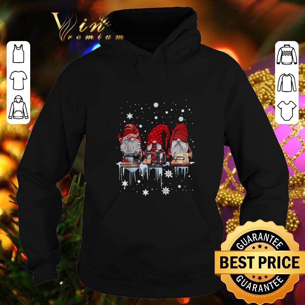 Top Gnome sewing machine Christmas shirt 4 - Top Gnome sewing machine Christmas shirt