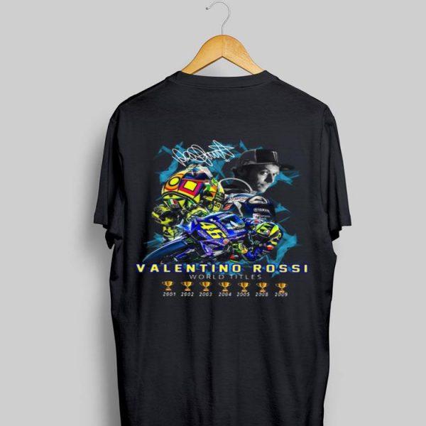 Valentino Rossi World Champions 2001-2009 signature shirt