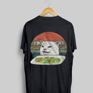 Vintage Cat Meme Woman Yelling at Cat shirt