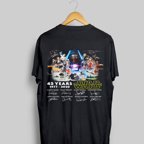 43 Years Star Wars 1977-2020 Characters Signature sweater