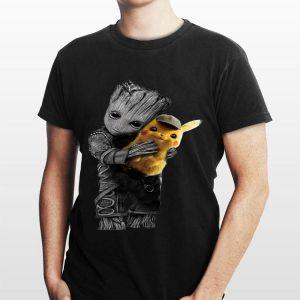 Baby Groot Hug Pikachu shirt