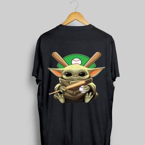 Baby Yoda Hug Baseball shirt