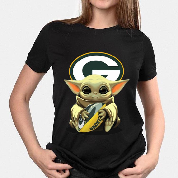 Baby Yoda Hug Green Bay Packers Shirt Hoodie Sweater Longsleeve T Shirt