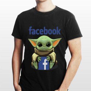Baby Yoda hug Facebook shirt