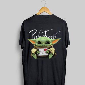 Baby Yoda hug Pink Floyd The Wall Album shirt