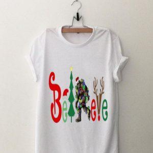 Bigfoot Believe Christmas sweater