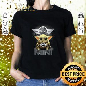 Hot Baby Yoda Hug MINI BMW Star Wars shirt