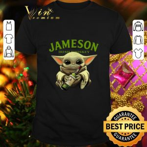 Hot Baby Yoda hug Jameson Irish Whiskey shirt