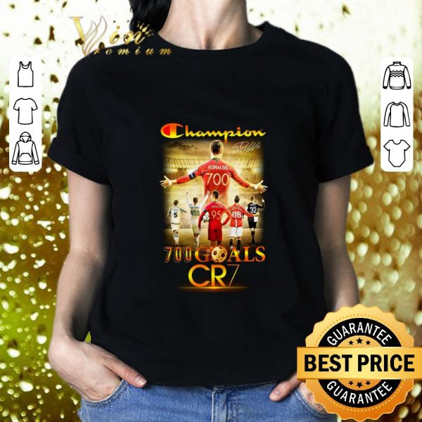 Hot Champion 700 goals CR7 signature shirt
