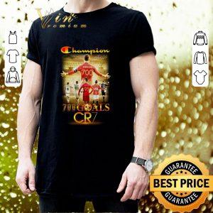 Hot Champion 700 goals CR7 signature shirt 2