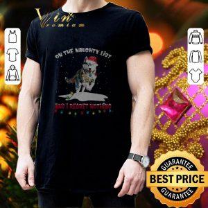 Hot Husky Santa on the naughty list and I regret nothing Christmas shirt 2