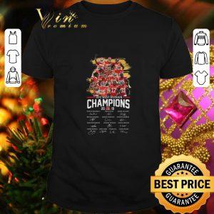 Hot Kansas City Chiefs AFC West Division Champions 2019 signatures shirt