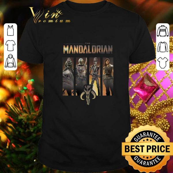 Hot Star Wars The Mandalorian Group Line Up shirt