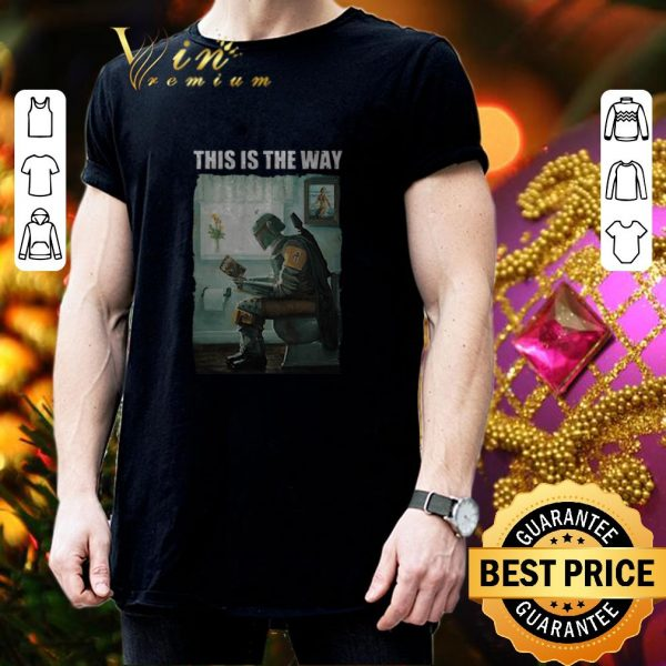 Hot The Mandalorian this is the way reading Harry Potter shirt